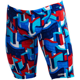 Funky Trunks Training Caleçon de bain Homme, block rock